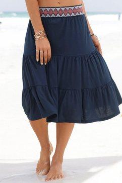 s.oliver red label beachwear jerseyrok blauw