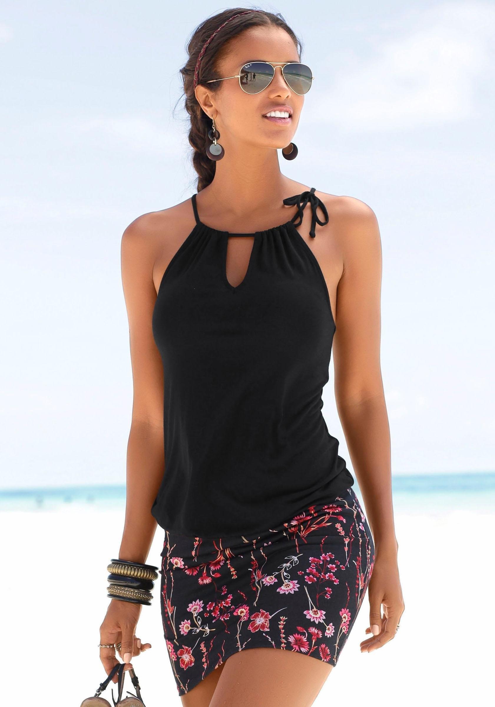 zwart strand jurkje