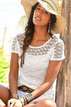 vivance shirt met zachte kant wit