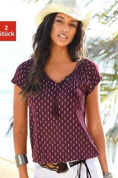 vivance shirt in set van 2 rood