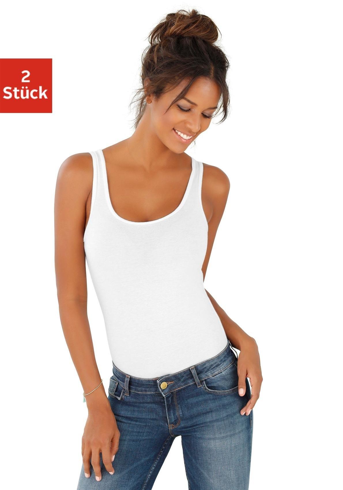Vivance shirtbody in katoen-stretchkwaliteit (Set van 2) nu online kopen bij Lascana