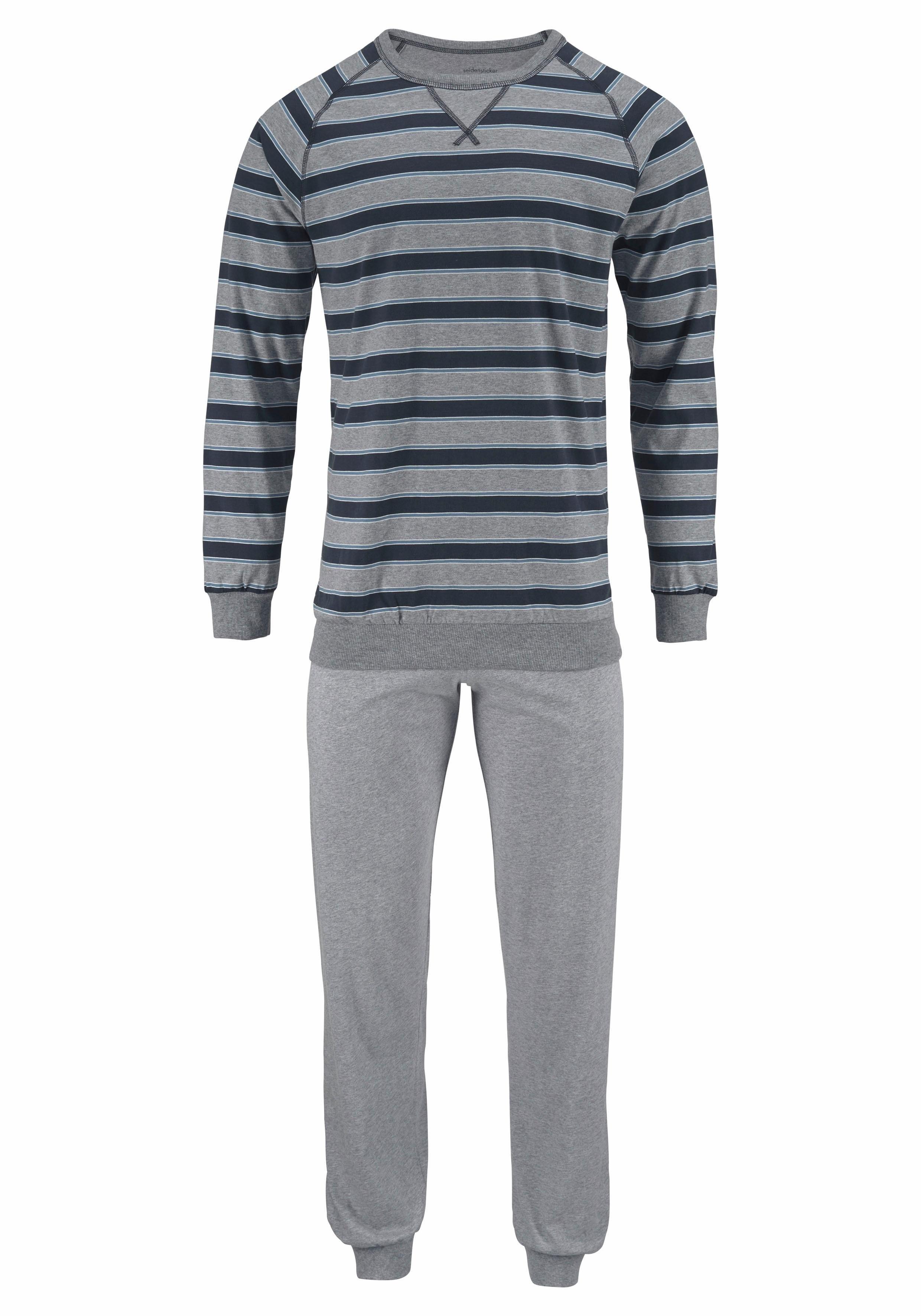 Seidensticker pyjama lang met blokstrepen nu online bestellen