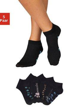 arizona sneakersokken (set van 5 paar) zwart