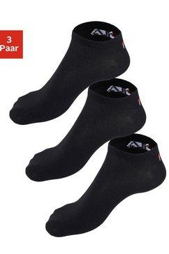 fila uniseks sneakersokken (set van 3 paar) zwart