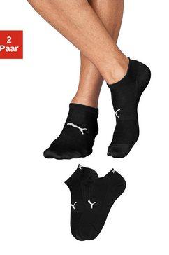 puma sneakersokken met breizones in net-look (2 paar) zwart