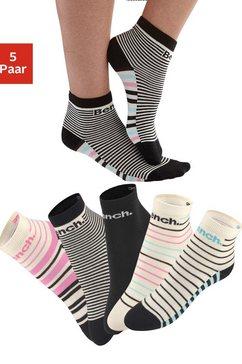 bench. korte sokken in streepdesign (5 paar) multicolor