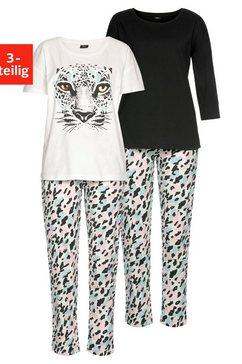 buffalo pyjama (set van 3) wit