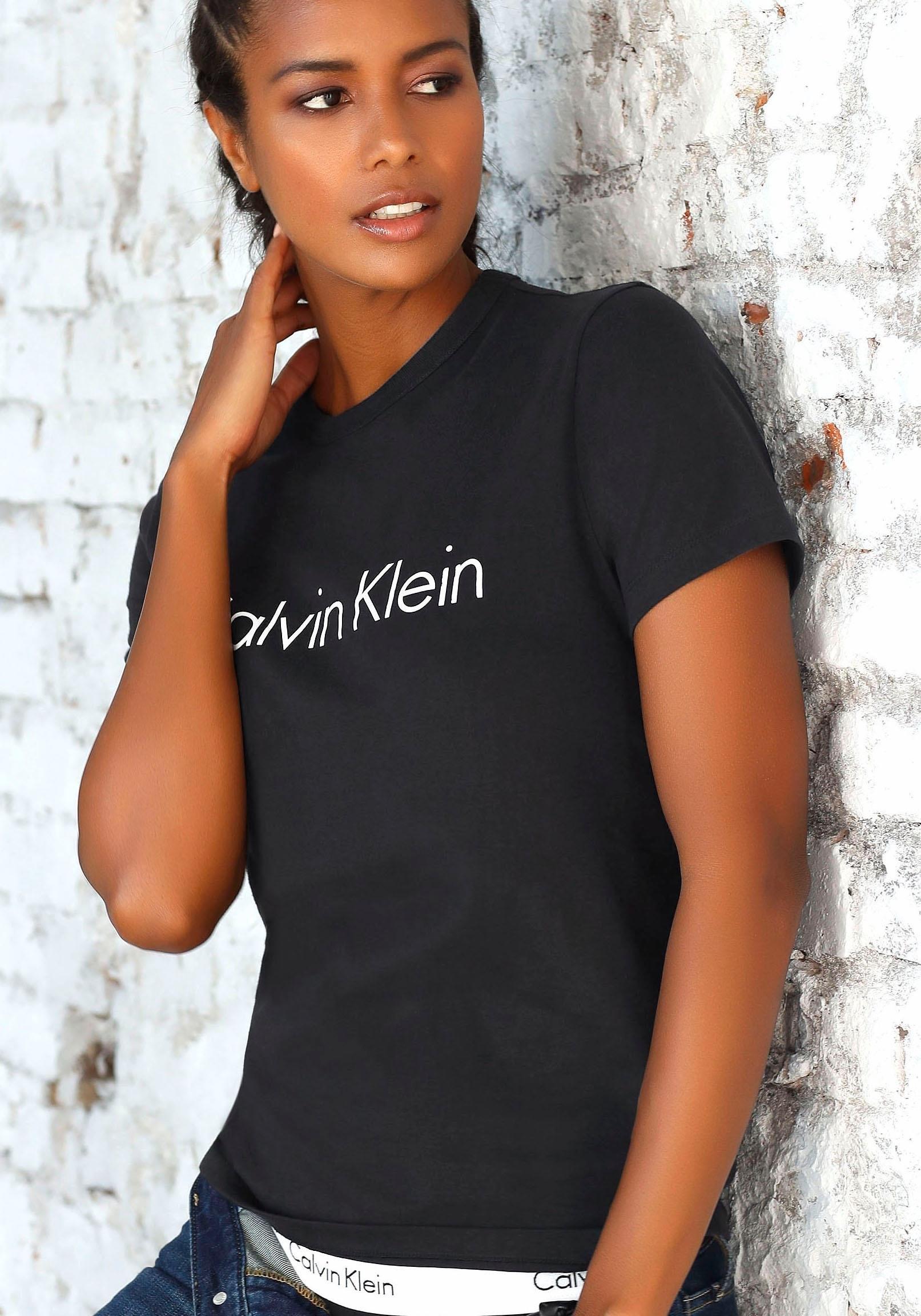 Calvin Klein T-shirt met grote logoprint voordelig en veilig online kopen
