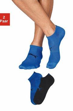 puma lichte sneakersokken (2 paar) blauw