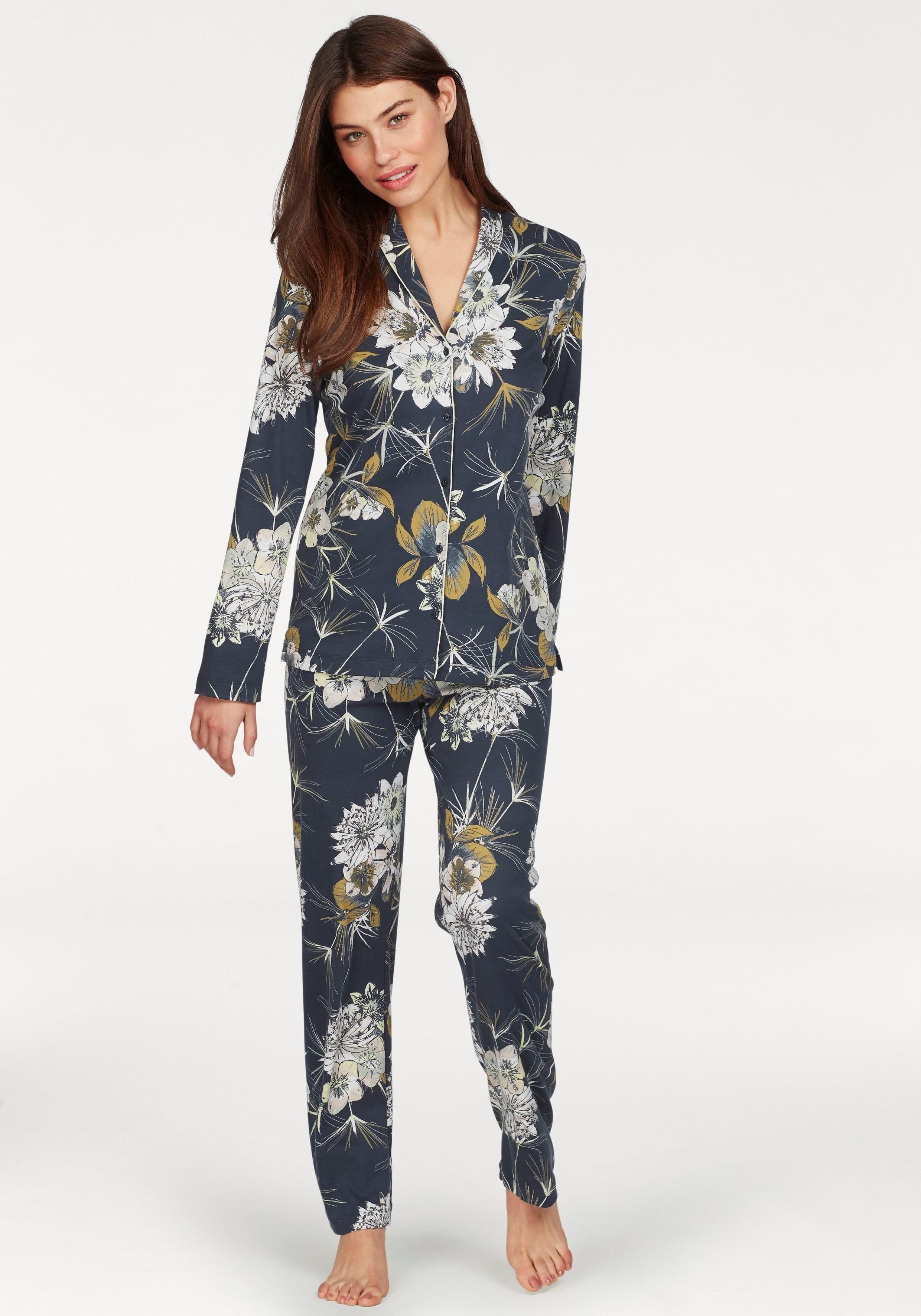 Calida pyjama in klassiek model met bloemenprint nu online bestellen