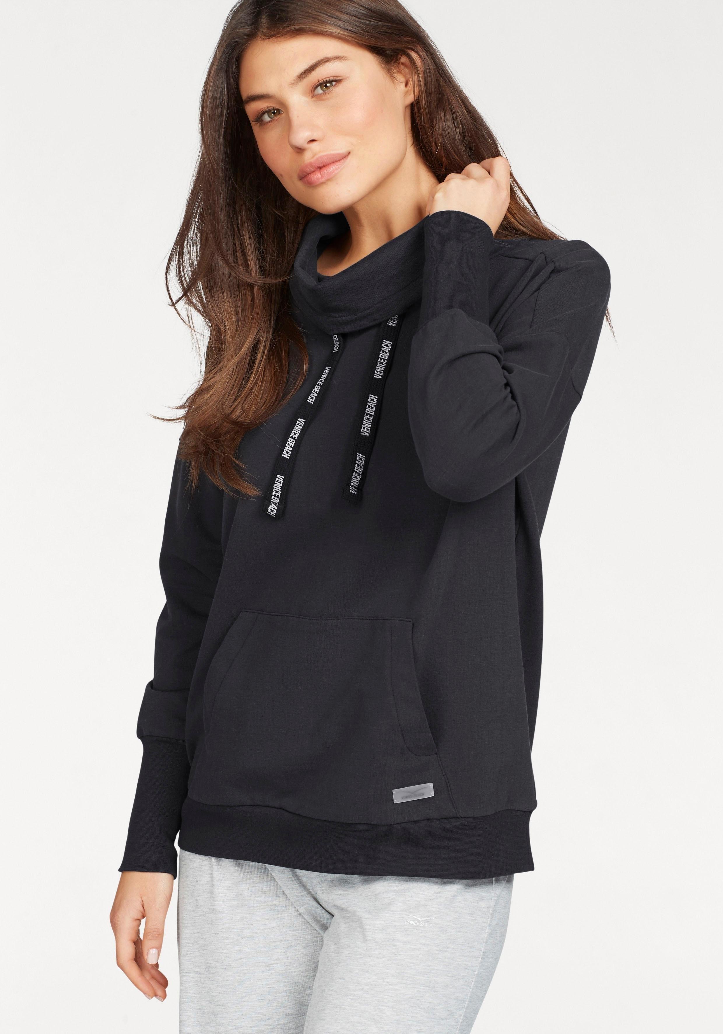 VENICE BEACH sweatshirt »Lenka« van babyfleece met staande kraag - gratis ruilen op lascana.nl