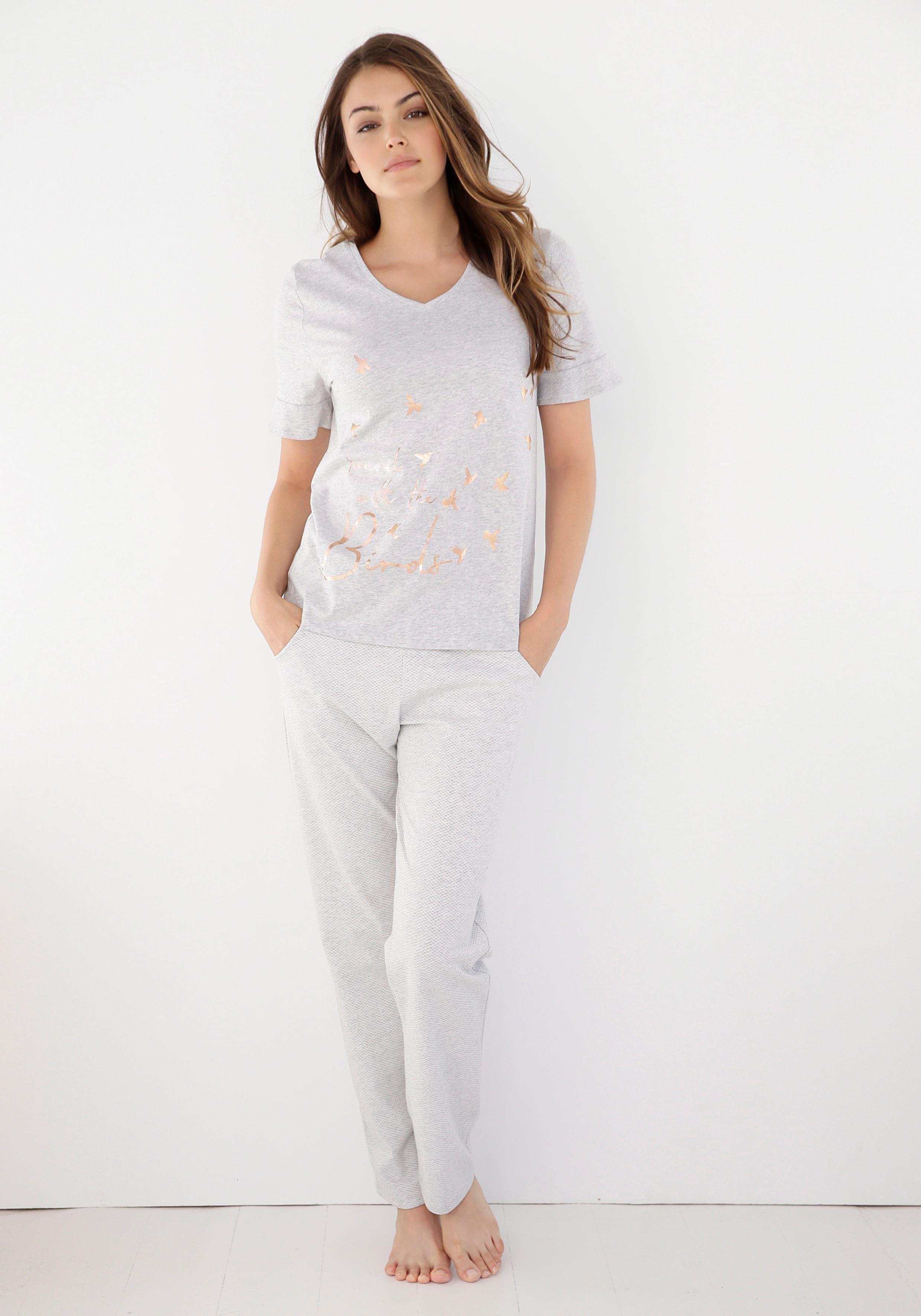 Triumph pyjama met folieprint online kopen op lascana.nl