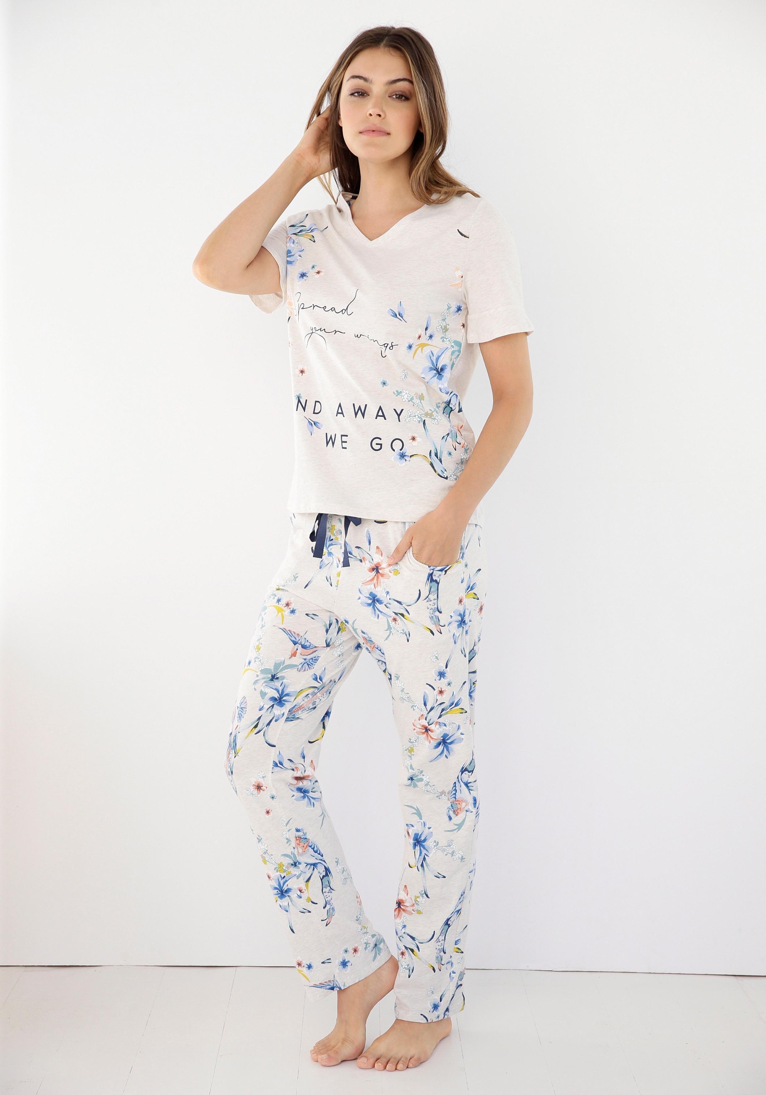 Triumph pyjama met bloemenprint online kopen op lascana.nl