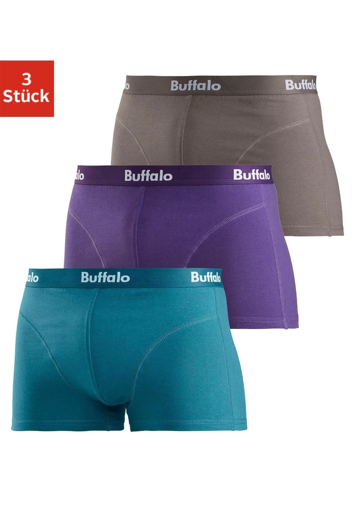 Buffalo Boxer, katoen-stretchkwaliteit, set van 3 voordelig en veilig online kopen