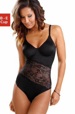 nuance t-shirt-body met beugels en asymmetrische kanten inzet voor. zwart
