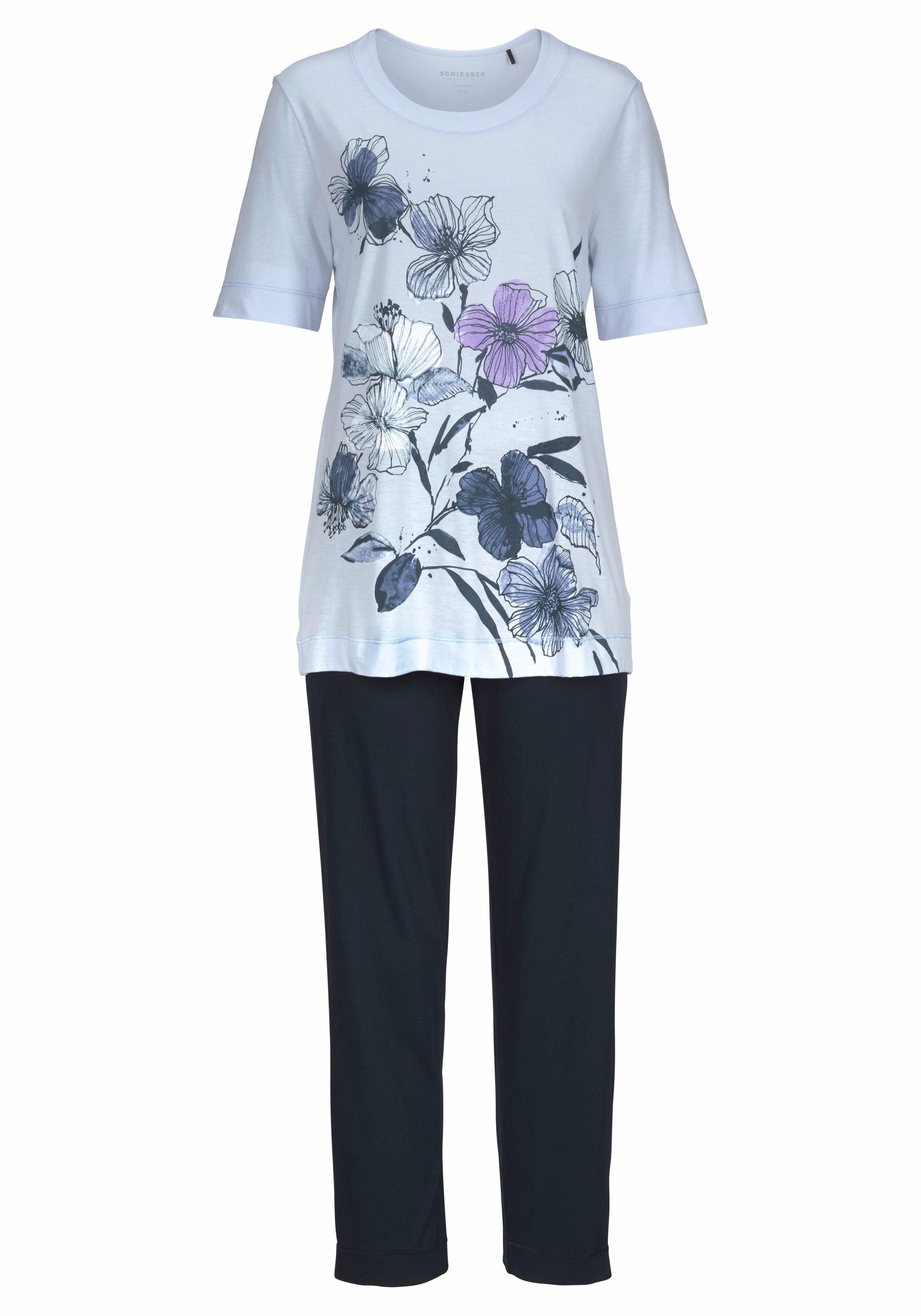 4d65b90b2f0 pyjama met gebloemde aquarelprint