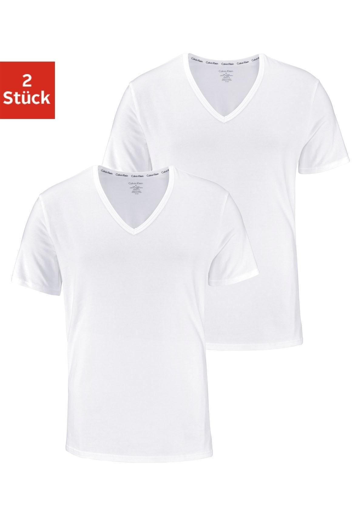 Calvin Klein shirt met V-hals (set van 2) voordelig en veilig online kopen