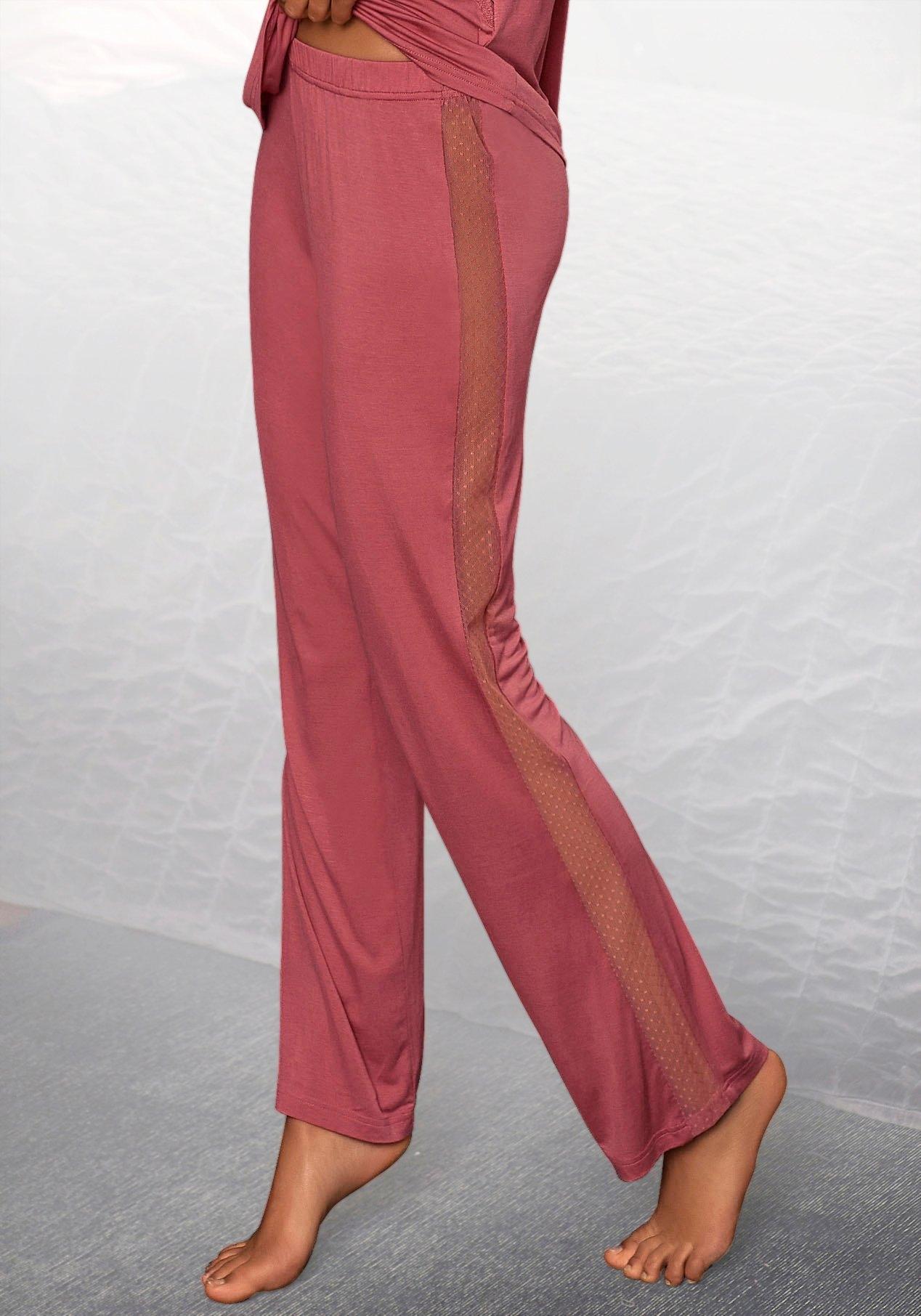 Op zoek naar een Lascana pyjamabroek met strepen opzij van transparante kant? Koop online bij Lascana