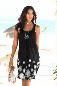 beachtime strandjurk met grafische print zwart