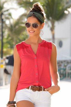 s.oliver red label beachwear strandtop rood