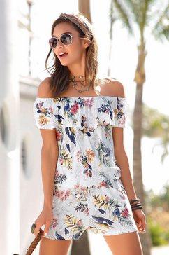 s.oliver red label beachwear jumpsuit met volant wit