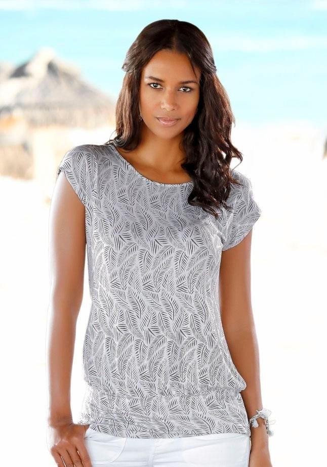 Lascana Lang shirt met brede tailleband - verschillende betaalmethodes