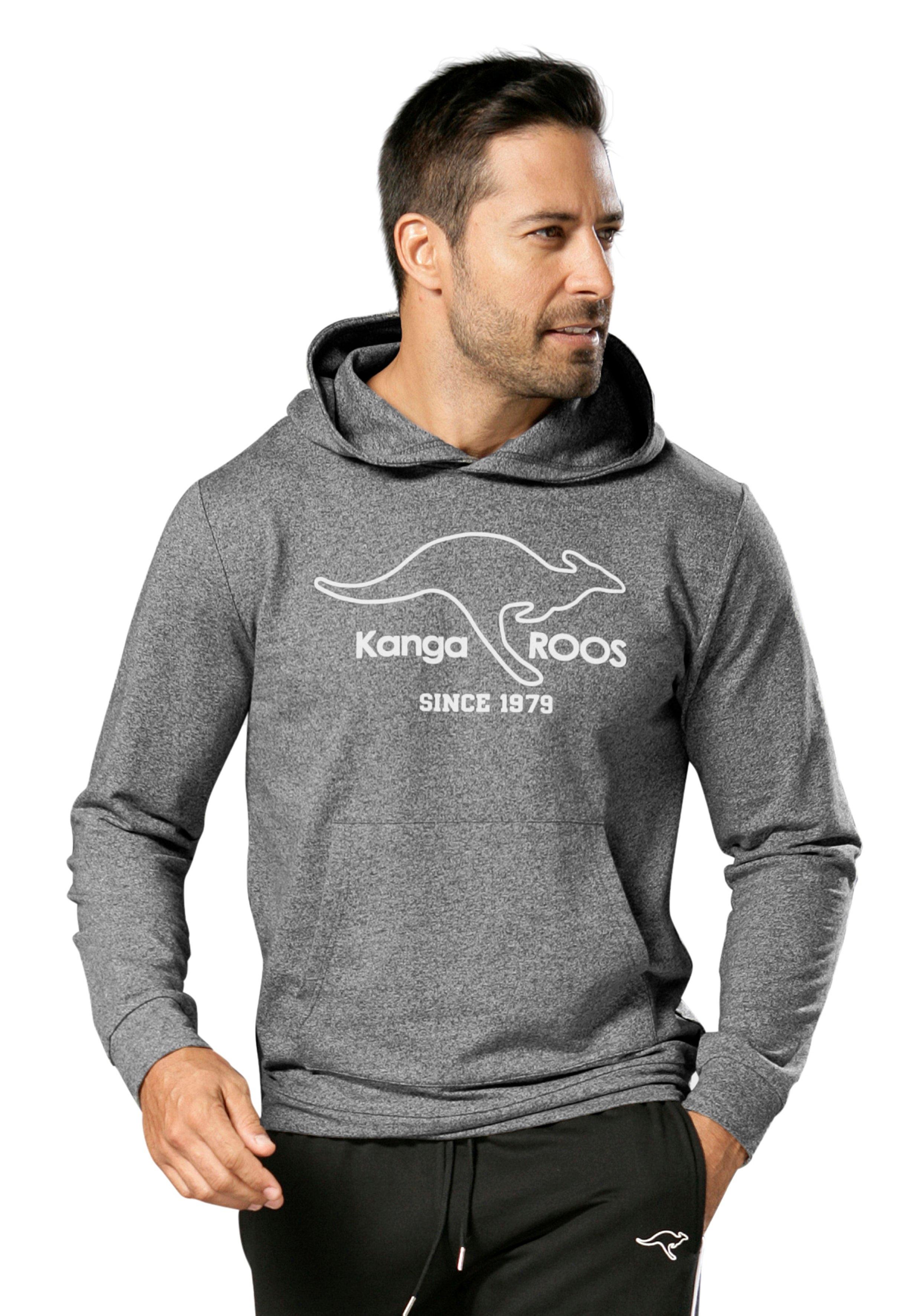 KangaROOS hoodie met brede boorden in de webshop van Lascana kopen