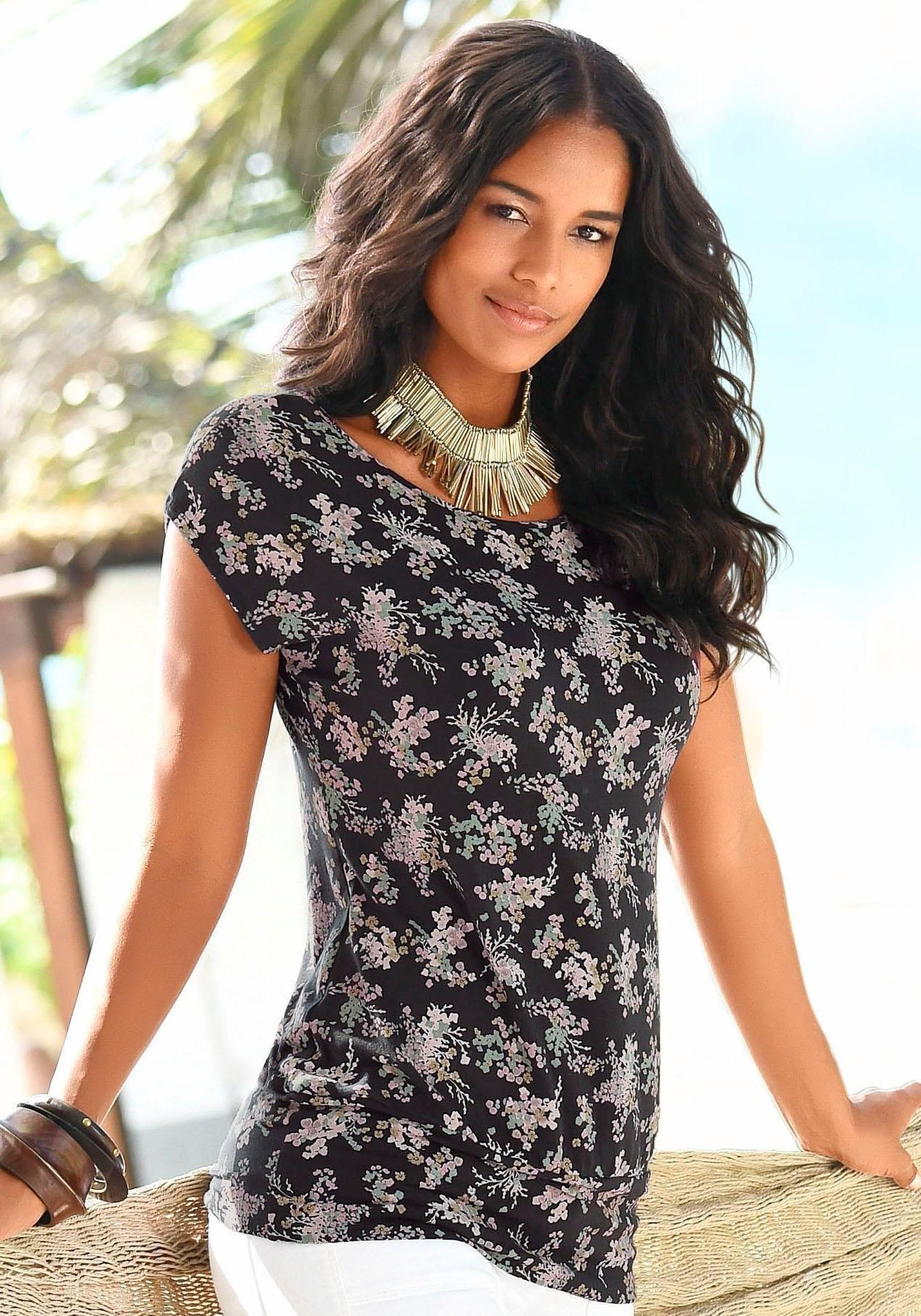 LASCANA shirt met bloemenprint allover - verschillende betaalmethodes