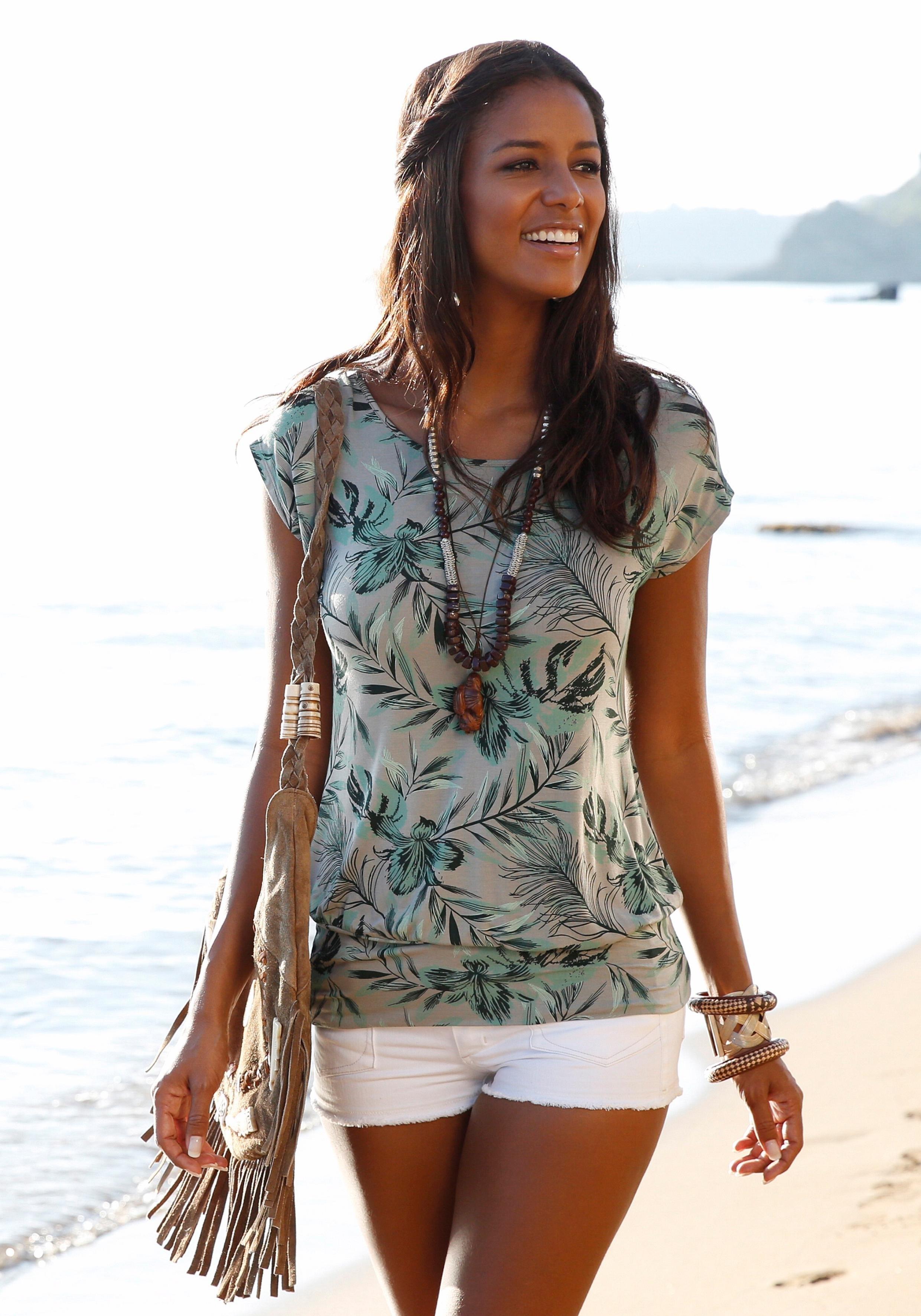 Lascana lang shirt met brede tailleband online kopen op lascana.nl