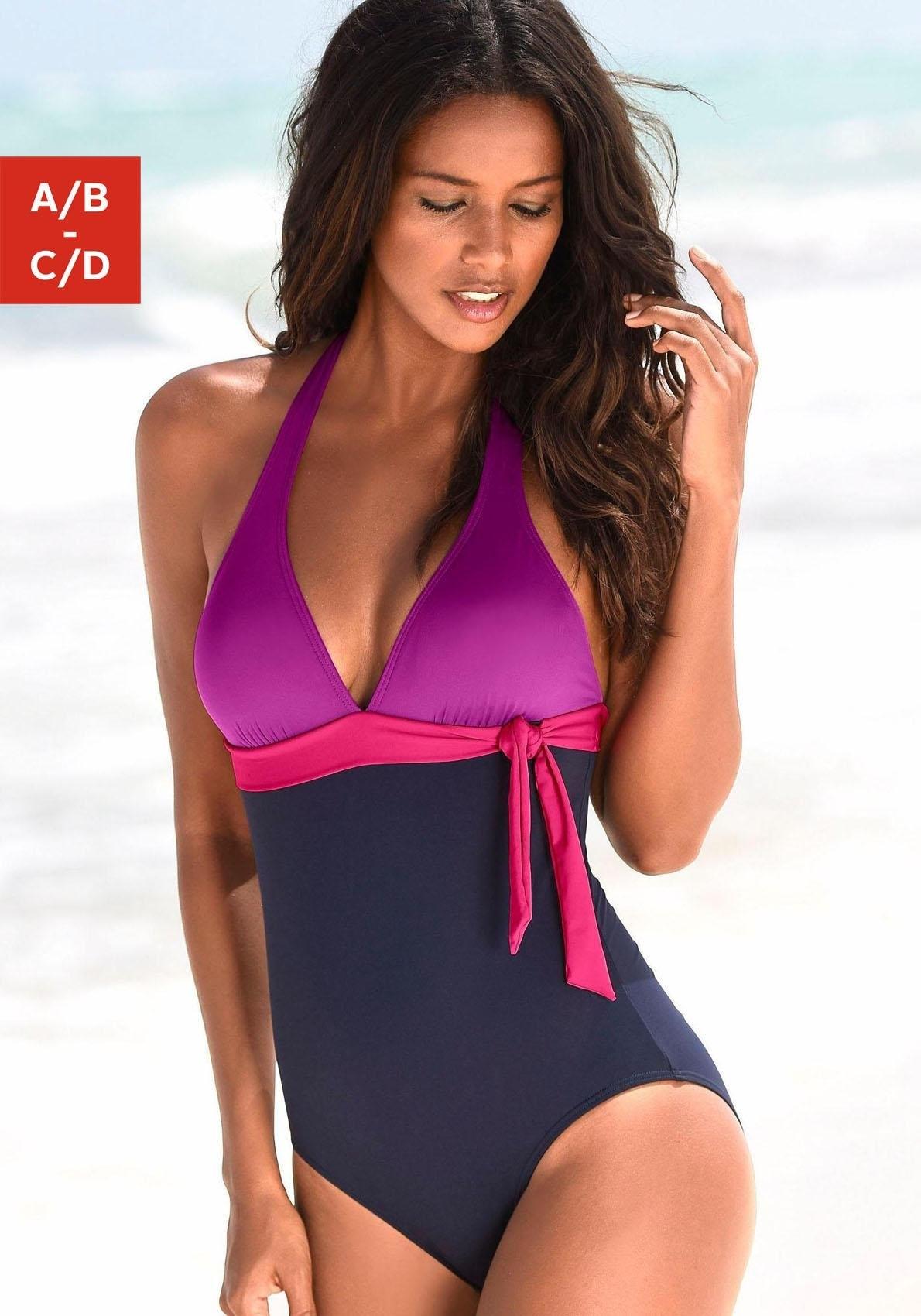 s.Oliver RED LABEL Beachwear badpak in colourblocking-look voordelig en veilig online kopen