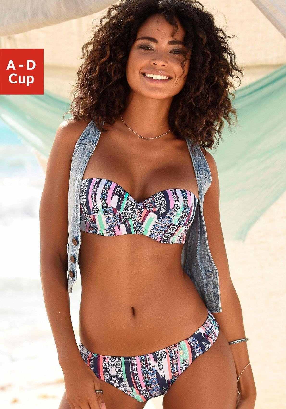 s.Oliver RED LABEL Beachwear beugelbikini in bandeaumodel met afneembare bandjes bestellen: 30 dagen bedenktijd