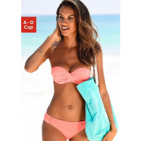 s.Oliver RED LABEL Beachwear beugelbikini in bandeaumodel met ruches