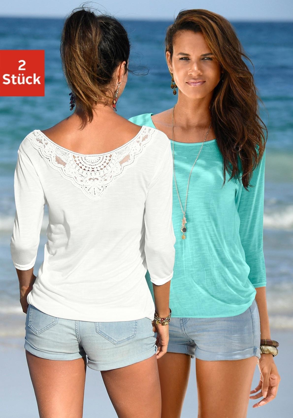 beachtime shirt (set van 2) bij Lascana online kopen