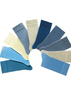 uniseks-sokken, set van 10 paar, h.i.s blauw