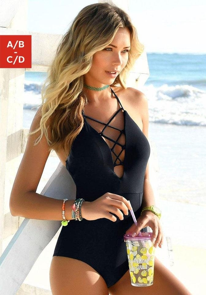 Venice Beach badpak met geregen hals - gratis ruilen op lascana.nl