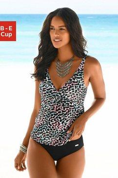 venice beach beugeltankini met gedessineerde print zwart