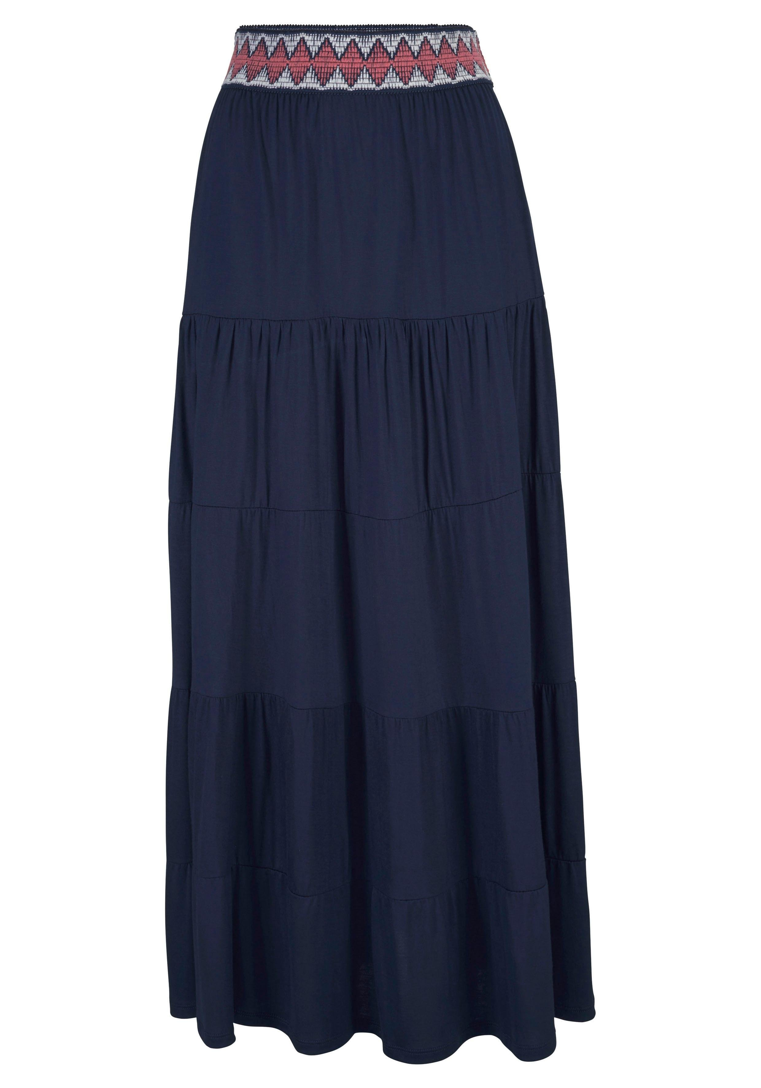 s.Oliver Beachwear s.Oliver RED LABEL Beachwear lange strandrok bij Lascana online kopen