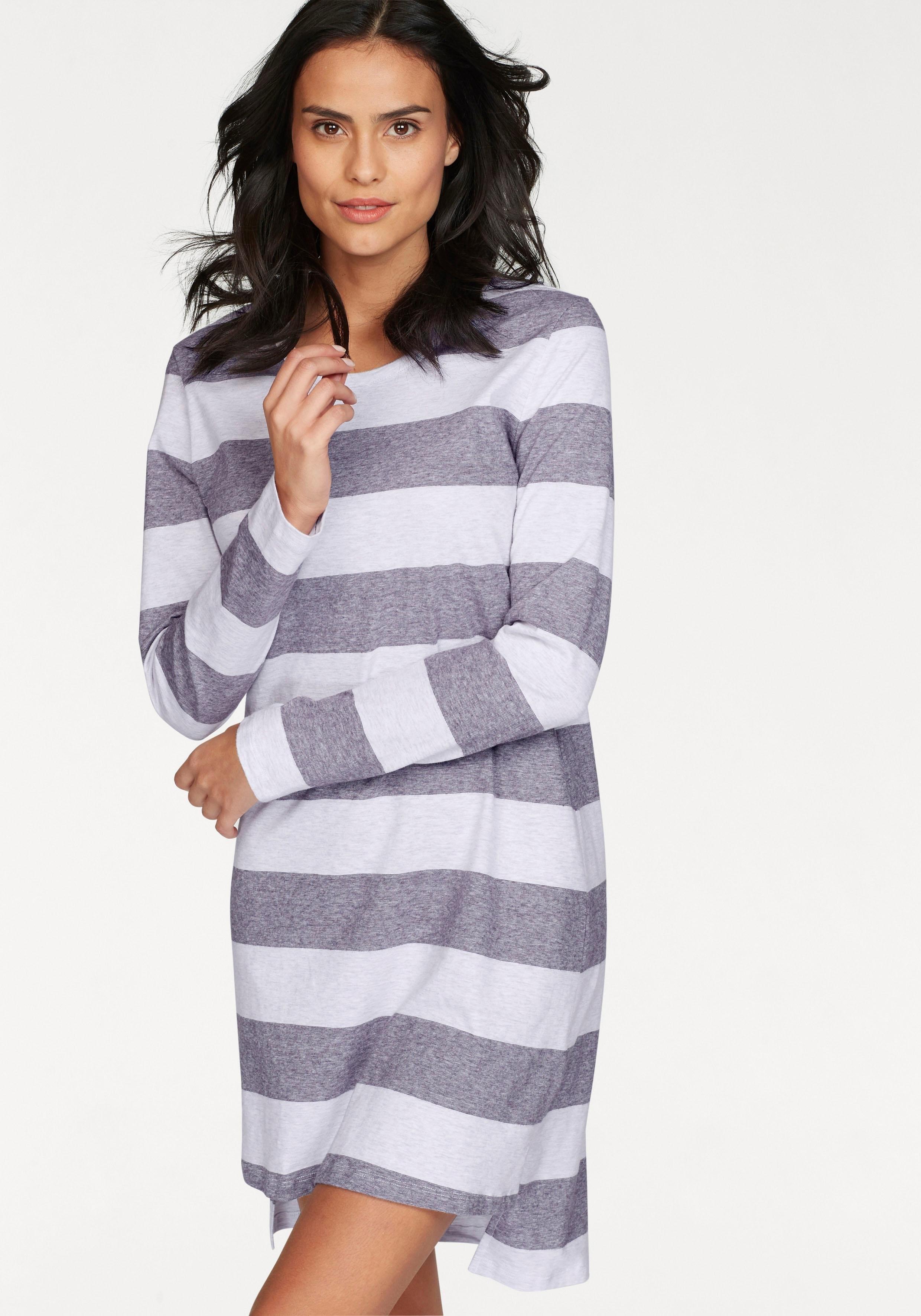 Schiesser nachthemd met brede strepen nu online kopen bij Lascana