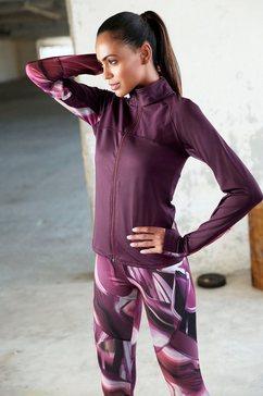 active by lascana performance-jas met staande kraag paars