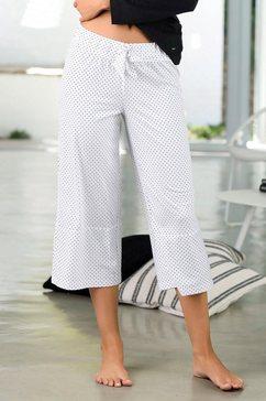 s.oliver red label bodywear broekrok in wijd model wit