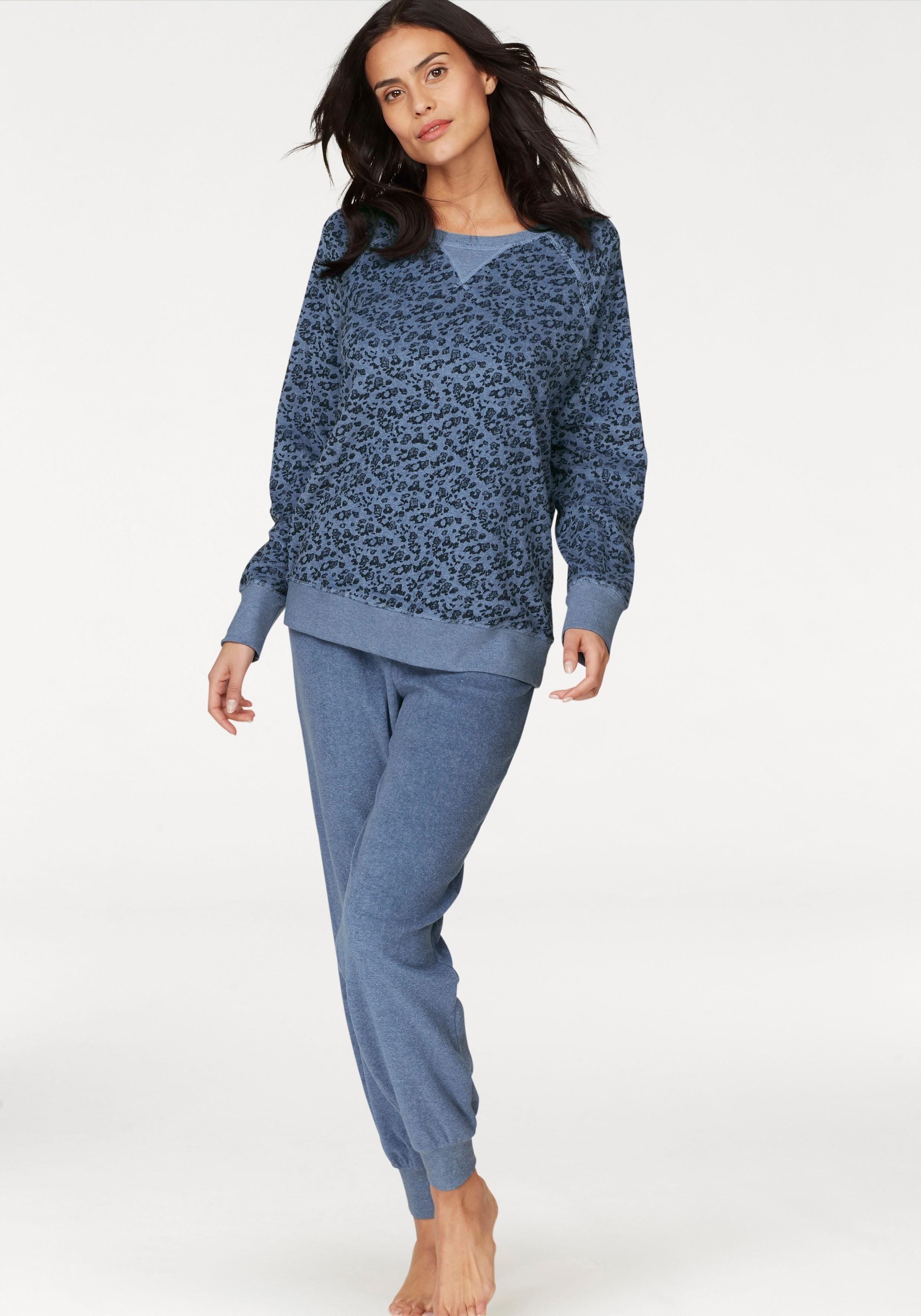 Seidensticker frotté-pyjama met gedessineerd shirt - gratis ruilen op lascana.nl