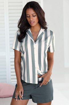 vivance dreams shortama in overhemd-look grijs