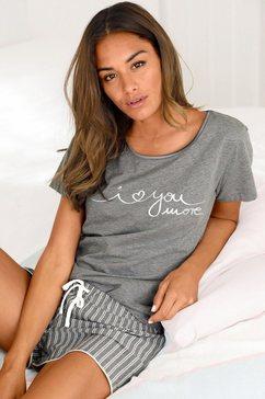 s.oliver red label beachwear shortama met streepmotief grijs