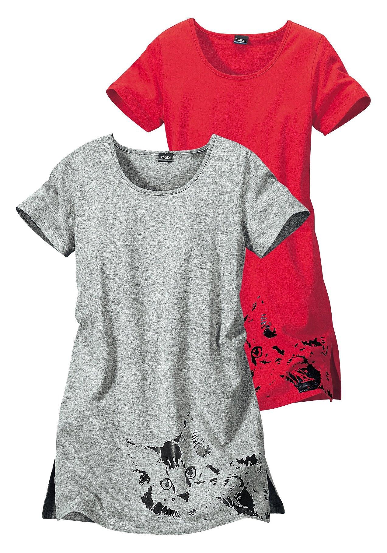 Vivance Collection Kort nachthemd, set van 2 - verschillende betaalmethodes