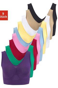 slimmaxx bh zonder beugels super-beha in bustier-model (set, 9-delig) multicolor