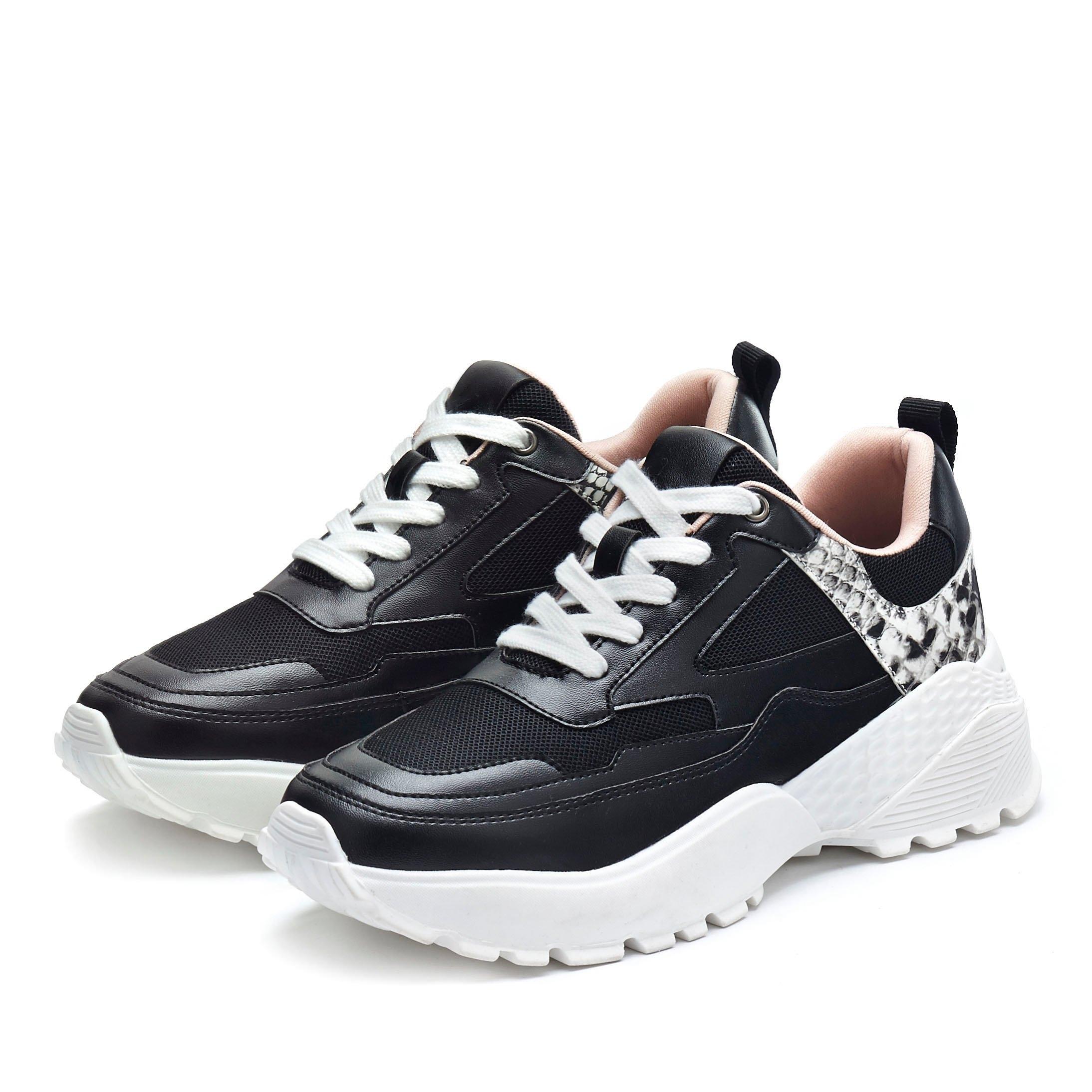 Lascana sneakers met plateauzool en trendy animal-print - verschillende betaalmethodes