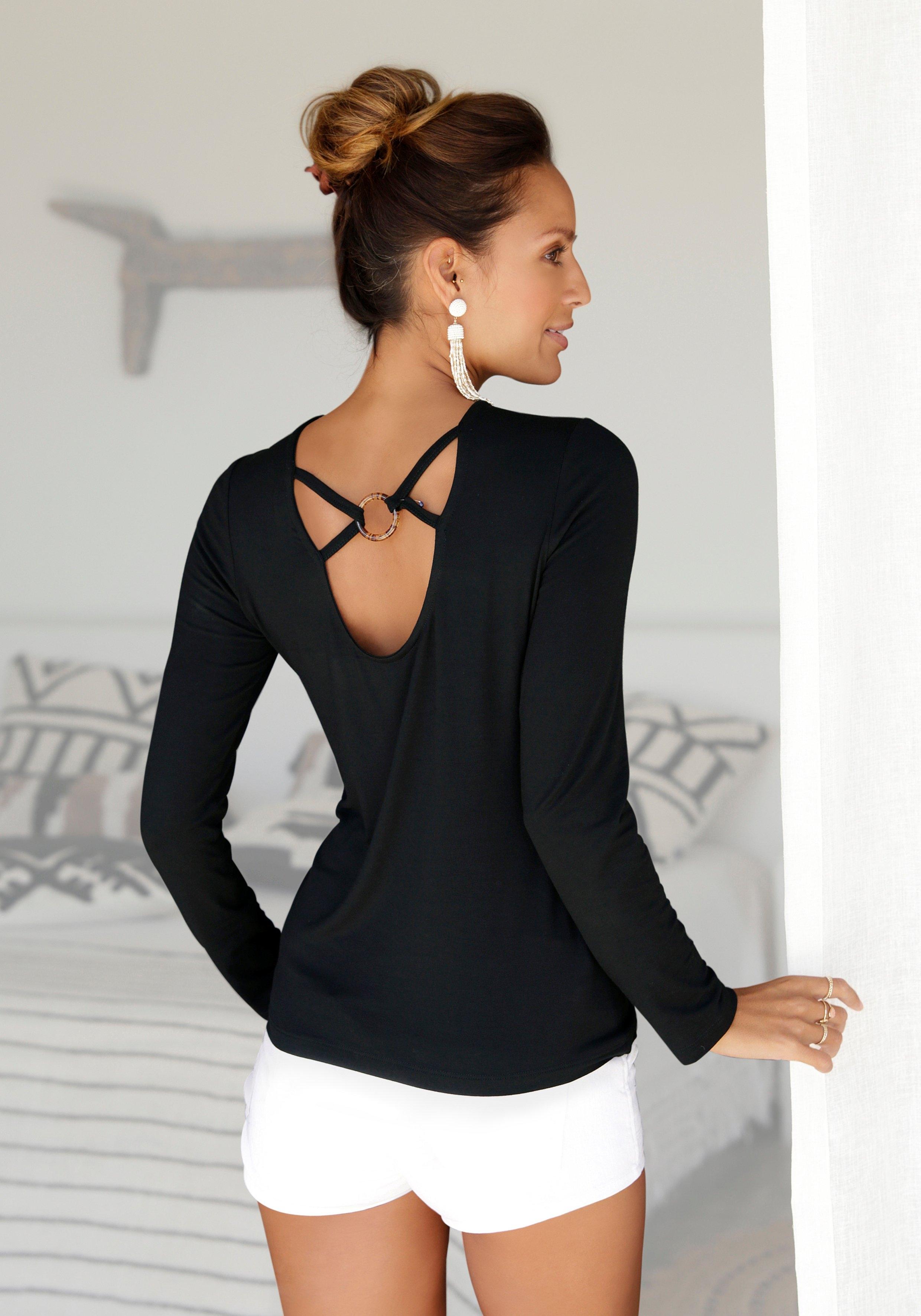 Op zoek naar een Lascana shirt met lange mouwen met lage ruglijn? Koop online bij Lascana