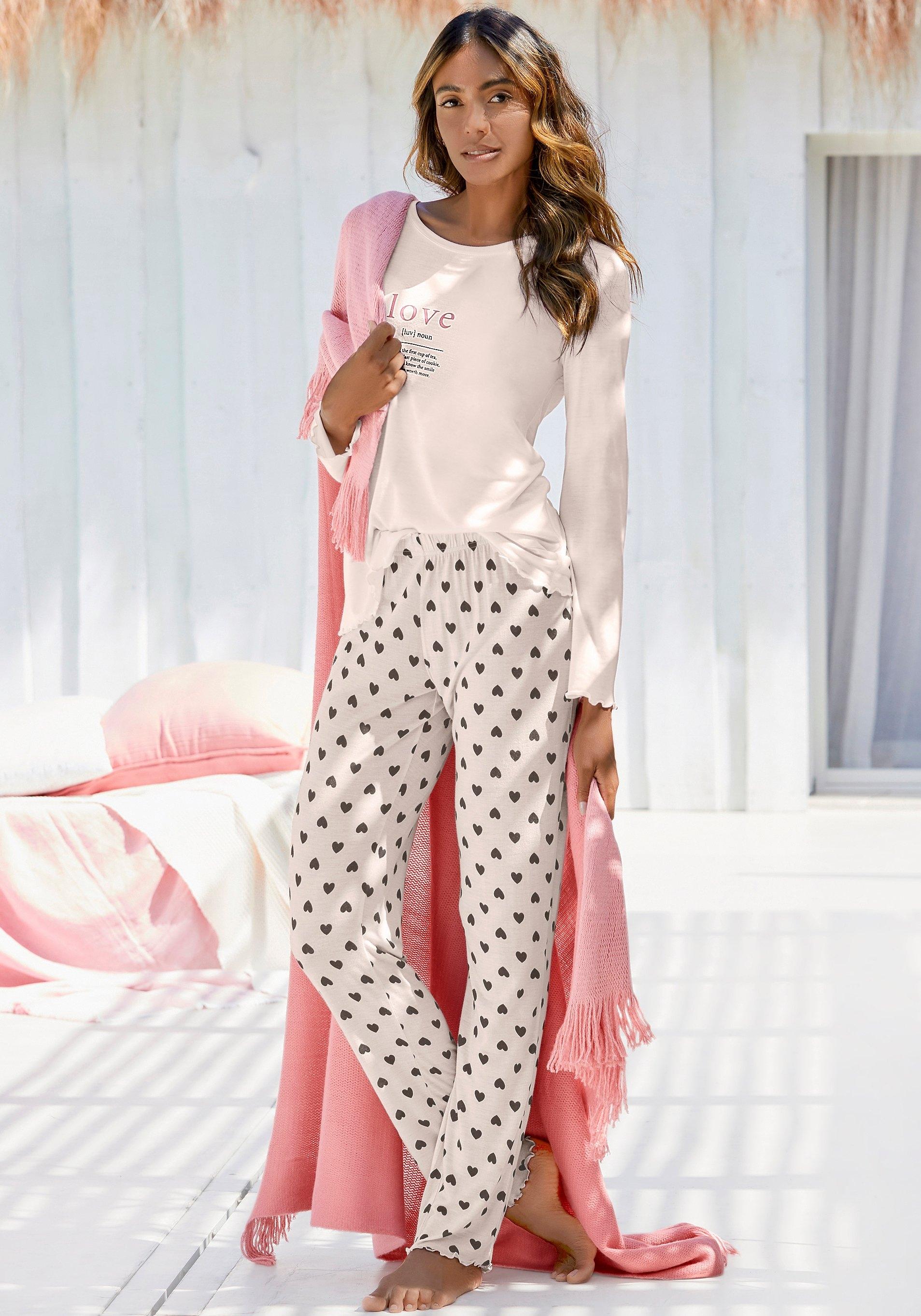 Vivance Dreams pyjama met elegant printmotief in de webshop van Lascana kopen