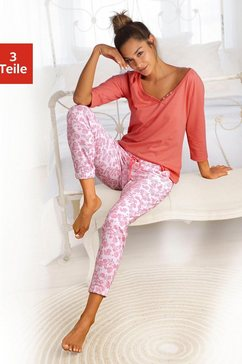 vivance dreams set: pyjama (3-dlg.) rood