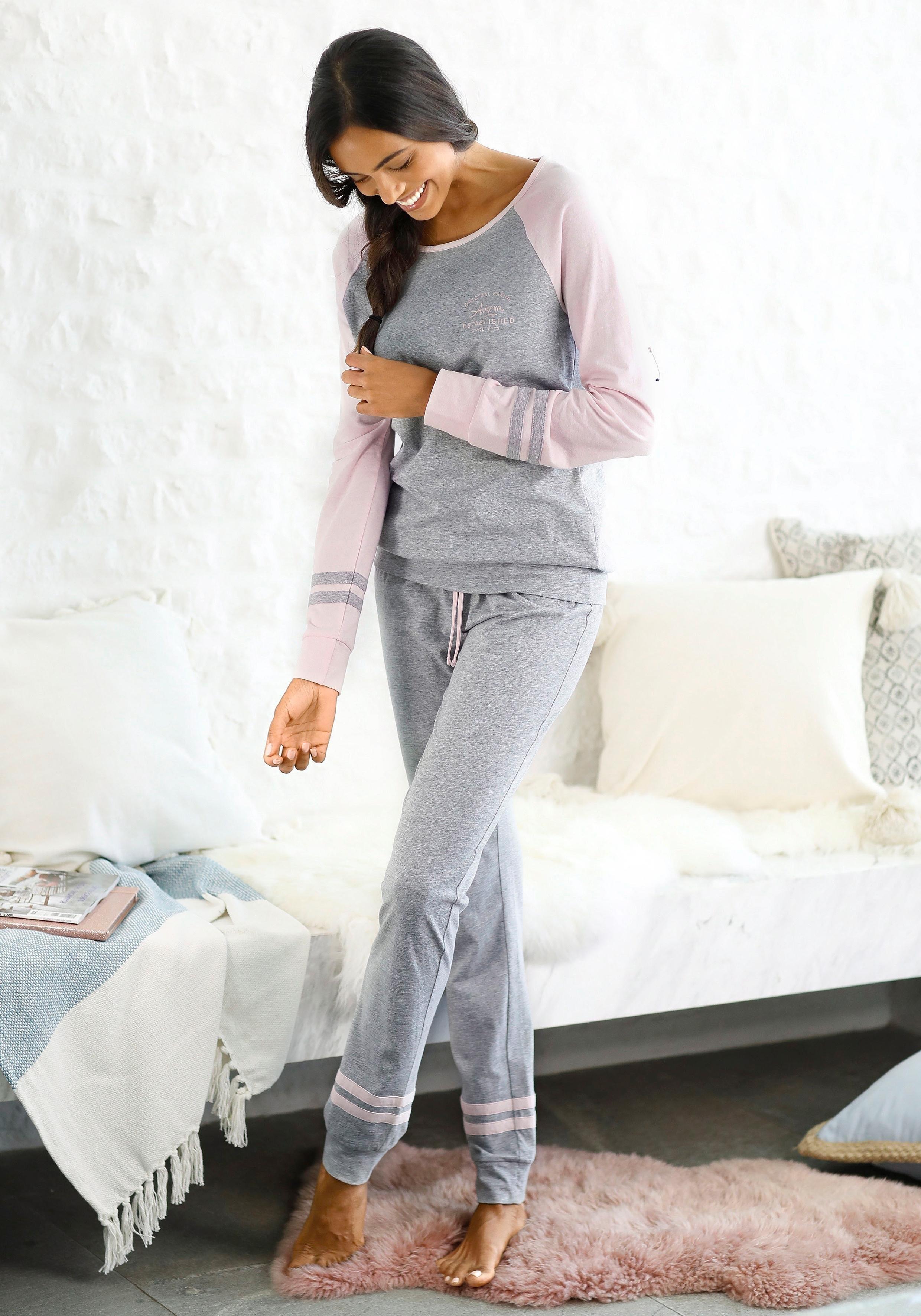 Arizona Pyjama met raglanmouwen goedkoop op lascana.nl kopen